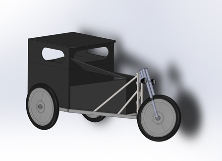 Hot Rod Handcart Digital Mock-Up